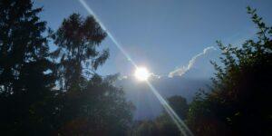 Sonne über Wolkenkante